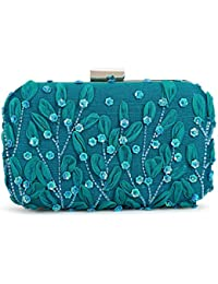SVAZ Designer Delicate Hand Embroidery, Thread Work Clutches For Women And Girls - B07GTFYK4P
