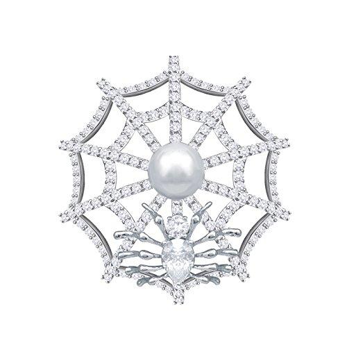 ne Shape Zirkonia Kristall Damen Modeschmuck Perle kleidung Brosche Halloween (Halloween Brosche)