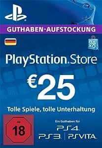 PlayStation Store Guthaben-Aufstockung 25 EUR [PS4, PS3, PS Vita PSN Code - deutsches Konto]