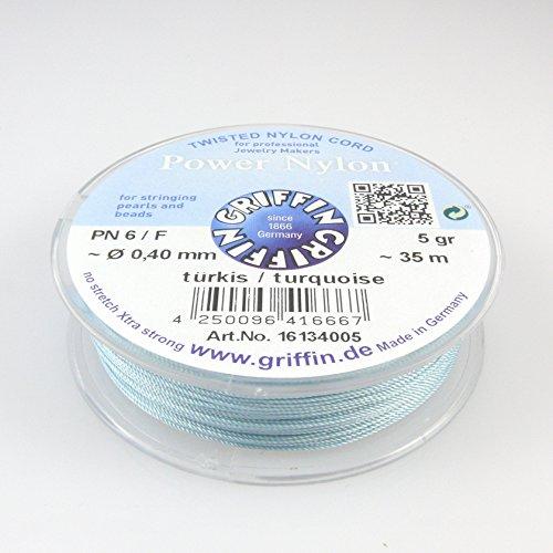 GRIFFIN Power Nylon Perlseide PN6 Ø 0,40mm türkis ~35m -1462 Griffin-schmuck