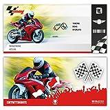 Einladungskarten Erwachsene Geburtstag 12 Stück Karten - Motorrad Ticket Einladung
