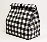 Bolsa para llevar los tupper, bocadillo, fruta, impermeable, reutilizable de tamaño 22x12x28 cm