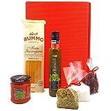 Pasta Geschenk Set Italien | Italienischer Geschenkkorb gefüllt mit Olivenöl & Feinkost | Spezialitäten Präsentkorb für Männer & Frauen