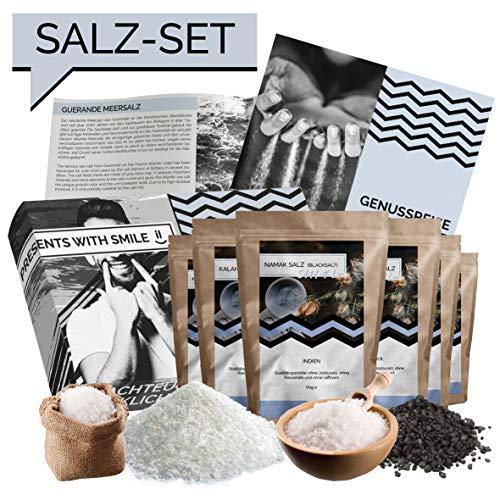 rsalze der Welt Geschenkbox | Salz Weltreise Geschenkidee Geschenkset für Frauen Männer | Salz Box Geschenk Box Geburtstag Weihnachten ()