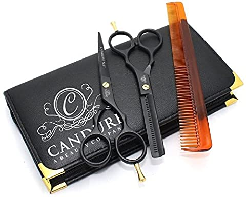 CANDURE® - Hairdressing Barber Salon Scissors, Thinning Scissors set 5.5