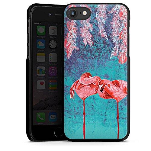 Apple iPhone X Silikon Hülle Case Schutzhülle Sommer Flamingos Pink Hard Case schwarz
