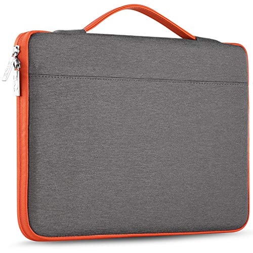 "Zinz 15,6 Zoll Aktentasche Laptoptasche Hülle, Stoßfeste Wasserdicht Notebook Sleeve kompatibel mit 15-15,6"" HP/Dell/ASUS/Acer/ThinkPad/Samsung/Toshiba Chromebook UltraBook Tablet, Dunkelgrau"