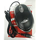 AD-NET AD-201 Wired Mouse (Black) + Free Mouse Pad And Card Reader