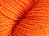 New Carrot Orange Knitting/Crochet 100% Acrylic worsted weight (double knit) thickness 8ply Yarn (100 grams)