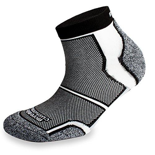 More Mile 6 paires New York rembourré Coolmax Sports Chaussettes de course - Noir - 42/45 FR