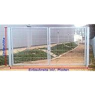 Einfahrtstor 2-flügelig Verzinkt - Inklusive 2 Pfosten / Einbau-Breite: 450cm - Einbau-Höhe: 200cm - Rahmen: 60 x 30mm / Mattentor Industrietor