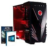 VIBOX Submission 29W - Neu 4.2GHz Acht 8-Core, GTX 960, Wasser Gekühlt, Extreme Leistung, Gamer, Gaming PC, Desktop PC Computer mit WarThunder Spiel Bundle, Neon Rot Innenbeleuchtung-Kit und Windows 10 Betriebssystem PLUS eine lebenslange Garantie inbegriffen* (4.0Ghz (4.2GHz Turbo) AMD FX 8350 Neu Acht 8-Core Prozessor, 2 GB Nvidia Geforce GTX 960 Grafikkarte, Raijintek Triton Wasser Kühler, 1TB Festplatte, 16 GB Kingston HyperX 1600MHz RAM)