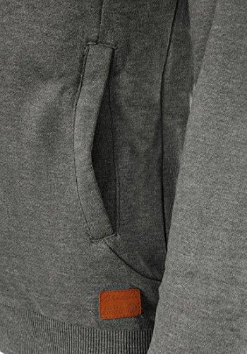 BLEND SHE Jannika Damen Sweatshirt Cross-Over Tuben Sweater mit Stehkragen aus hochwertiger Baumwollmischung Pewter Mix (70817)