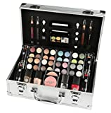 Vanity Case Beauty Cosmetic Set Gift Travel Make Up Box Train Storage 52 Piece