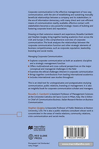 Libro Managing Corporate Communication: A Cross-Cultural Approach