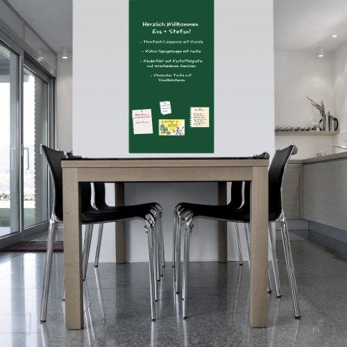 Schultafel selbstklebend magnetisch Tafelfolie Wandfolie Kreidetafel Wandtafel Kindertafel Schultafel Maltafel- in green 3,00x1,00 Meter - Ideal zum malen