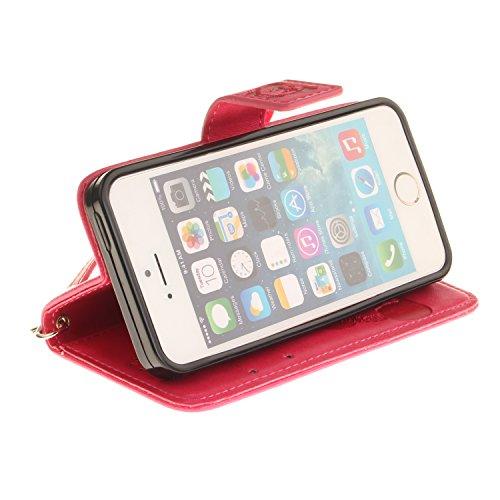 """Coque, cowx PU Etui en cuir pour iPhone se (4"""") Étui de protection en cuir iPhone se, se étui portefeuille pour iPhone iPhone se Case, poche Fonction support se poches Bols Foto16"""