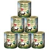 Dehner Best Nature Hundefutter, Adult Rind und Pute mit Karotten, 6 x 800 g (4.8 kg)