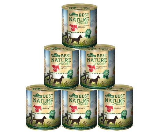 Dehner Best Nature Hundefutter Adult, Rind und Pute mit Karotten, 6 x 800 g (4.8 kg)