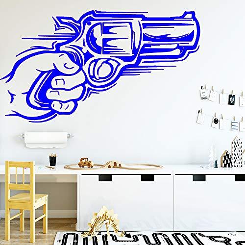 zhuziji Pistole Abnehmbare Art Vinyl Wandaufkleber Für Wohnkultur Wohnzimmer Schlafzimmer Vinyl 888-4 M 28 cm X 49 cm -