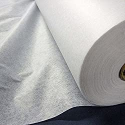 White Lightweight Fusible Iron On Interfacing Fabric (Per Metre)