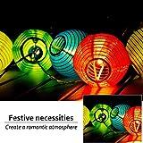 Lichterkette Lampion Außen 5 Meter 20 LED Paper Laternen,Weihnachtsbeleuchtung für Garten,Fest,Weihnachten Deko