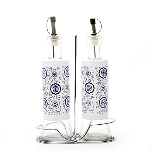 @home by Nilkamal Multicolor Glass Condiment Set  available at amazon for Rs.445