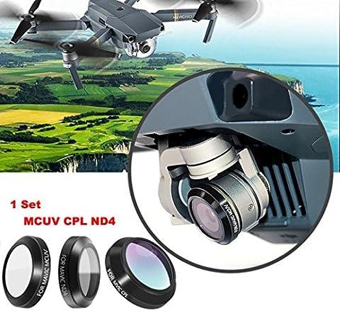 TWIFER MCUV CPL ND4 HD Thin Camera Lens Filters For DJI MAVIC Pro Drone