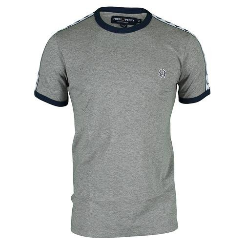 Crooks & Castles - - Herren Doppel Bullseye T-Shirt in Schwarz Grau