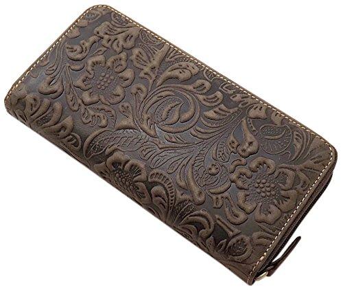 Portafoglio di pelle per donna con blocco rfid & nfc (marrone)