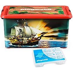 Playmobil 064661 - Caja organizadora y Caja de almacenaje de Piratas