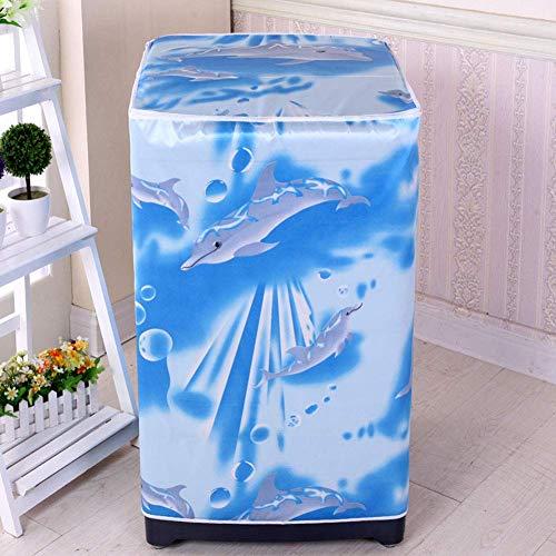 AAVBR Waschmaschine Abdeckung Wasserdicht Hülle Reißverschluss Dekoration Süß Blumenmuster Leicht zu Reinigen Staubdicht Frontlader Schutz Badezimmer Heim Zubehör (Kirsche) (Frontlader-waschmaschine Abdeckung)