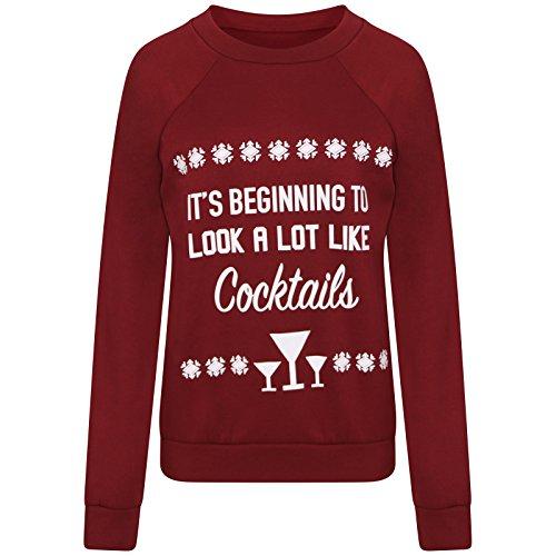 """lcl- Celebrity inspiré femmes inspiré pour homme """"It de mendier pour look A Lot Like Cocktails «Top Pull: (tm-love Celeb Look) Rouge - Bordeaux"""