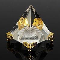Merssavo Pirámide de Cristal Reiki Energía Curación Egipcio Pirámide Cristalina Decoración