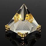 Merssavo REIKI Energie Heilung Feng Shui Ägypten Ägyptischen Crystal Clear Pyramid Ornament