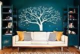 Giant Familie Fotorahmen Baum Wand Aufkleber DIY Vinyl Wandtattoo für Baby Kinder Zimmer Dekoration (Weiß)