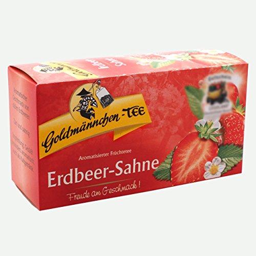 Goldmännchen Tee Erdbeer-Sahne, Früchtetee, 20 Teebeutel