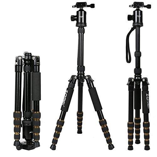 Zomei Z669 Kamera Stativ Aluminium leichtes Reisestativ mit 360° Panorama Kugelkopf für DSLR Kamera und Youtube Video