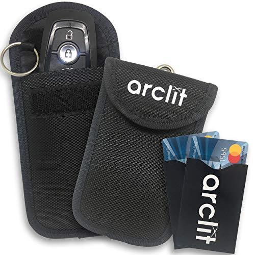 Arclit Arclit-01 - Carcasa para Llave y 2 Tarjetas de antirrobo para Coche (Bloqueo de señal RFID/NFC/WiFi/gsm/LTE)
