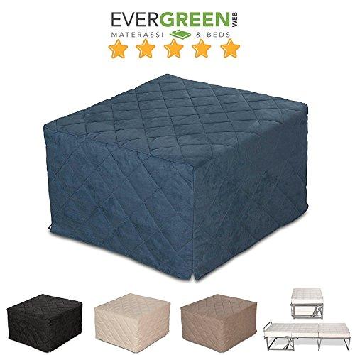 EvergreenWeb - Pouf Letto singolo con materasso h 10 cm- SUITE Vari ...