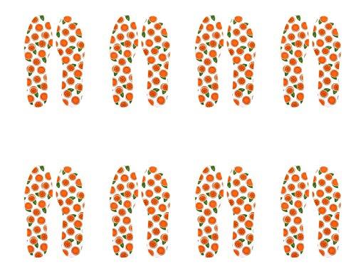 biped 8 Paar Frischesohlen Orange - extra dünn & hygienisch - mit leichtem Duft z1018 (44-45)