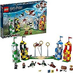 LEGO- Harry Potter Partita di Quidditch Set di Costruzioni con 5 Minifigure della Famosa Saga, per Ragazzi da 7-14 Anni, Ricco di Particolari, Multicolore, 75956