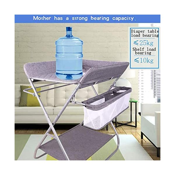 QZQKQ Universal Baby Cot Top Changer Portable Changing Table Diaper table Folding Baby Changing with Safety Straps QZQKQ *Material: Linen cloth, steel pipe *Suitable for 0-12 months baby, most comfortable height for you to take care of your baby *Quick and easy folding or collapsible by folding mechanism 5