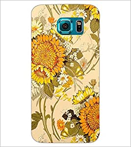 PrintDhaba Floral Design D-1441 Back Case Cover for SAMSUNG GALAXY S6 EDGE (Multi-Coloured)