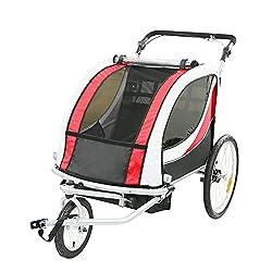 TIGGO World Kinderfahrradanhänger Fahrradanhänger Jogger 2in1 Anhänger Kinderanhänger JBT03N-D01 802-D01