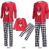 Worsworthy Weihnachten Familie Kleidung Passende Familie Kleidung Pullover Weihnachten Familie Geschenk Nachtwäsche Set Familien Pyjamas Set, Familien Letter Deer Tops + Karierte Hose