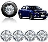 #5: Auto Pearl-Premium Quality Car Full Silver Wheel Cover Caps 14