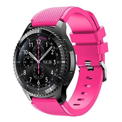 Samsung Gear S3 Frontier Armband, OverDose Sport Silikon Armband Armband für Samsung Gear S3 Frontier (Rosa)