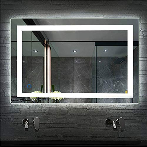Turefans Wandspiegel LED Badezimmerspiegel Beleuchtet Bad Spiegel 500x700mm/ 600x800mm 22W Kaltweiß A+ (600x800mm)