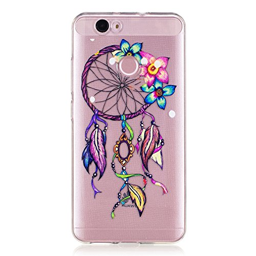 Price comparison product image Huawei Nova Case,  BONROY® Huawei Nova Fashion painting pattern Case Bumper Transparent Soft Gel Shockproof Case Resist Protection Shell for Huawei Nova
